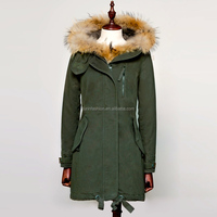 Wholesale Latest Design Military Parka Jackets with Real Fur Trim