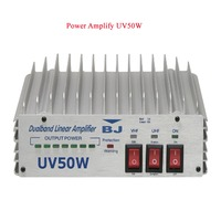 Professional HF Dualband linear cb radio amplifier BJ-UV50W with high power output 136-174/400-470MHz