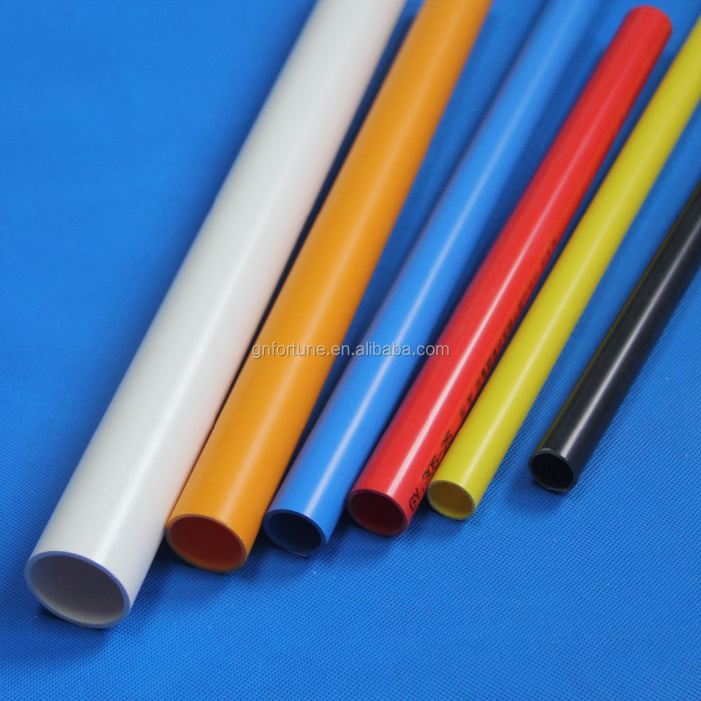 Pvc plastic electrical pipe line for white grey orange for Buy plastic pipe