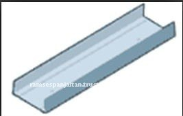 Knauf U-Channel Metal Partition Section