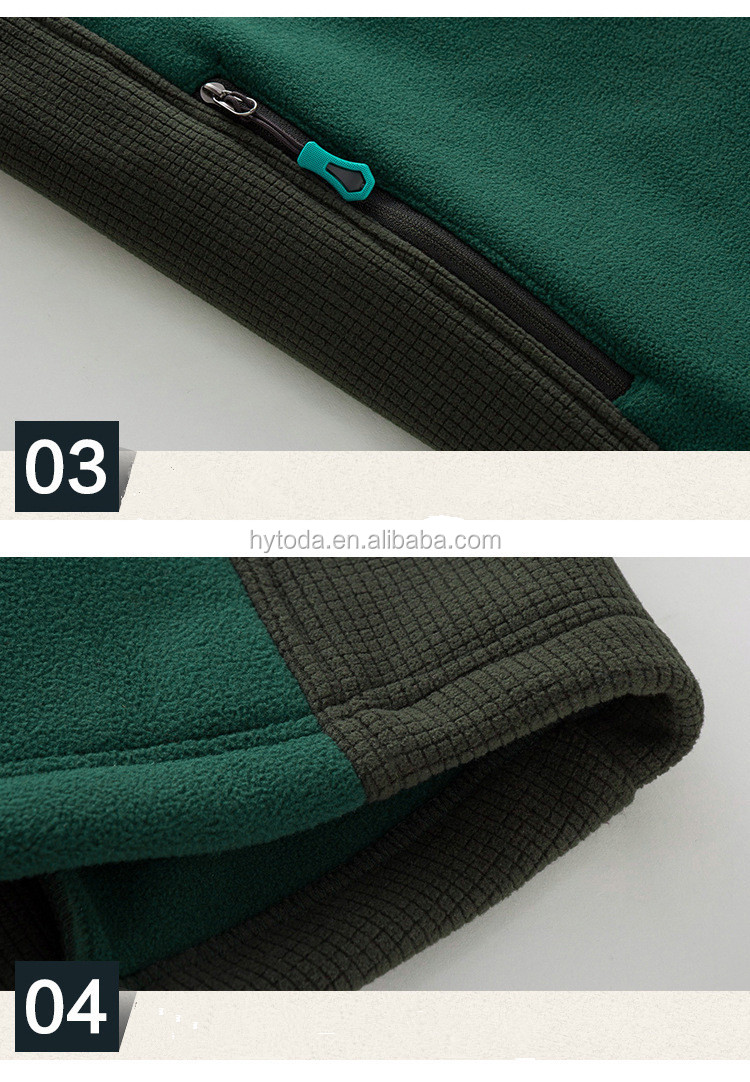 Hiking fleece green jacket for men