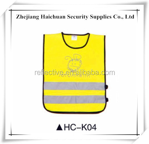 Children's Reflective Vest Safety Waistcoat with Logo Printing