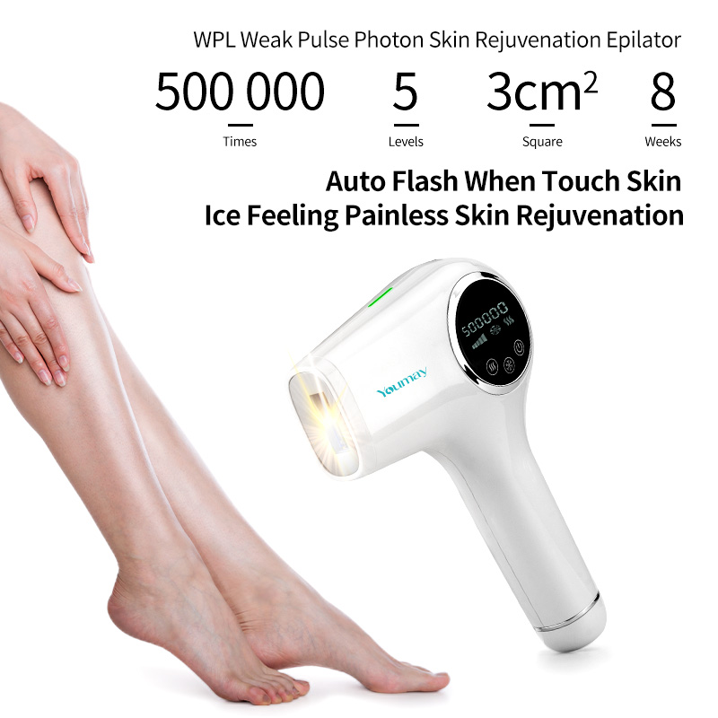 rechargeable beautiful device for women facial hairs flash portable laser Light epilator