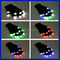 2016 Amazon Supplier Led glove wholesaler factory supply party decorations rave led light gloves