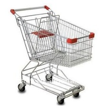 4 wheels grocery shopping cart with baby seat manufacturer(ISO approved)