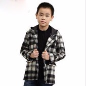 Children clothing formal kids outfit linen blazer boys jacket for autumn winter or all year around