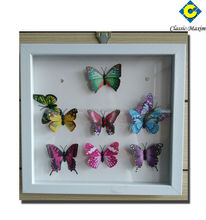 Colorful 3D butterfly framed thai wall art
