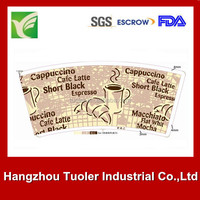 Hanghzou tuoler single or double side pe coated paper for cup
