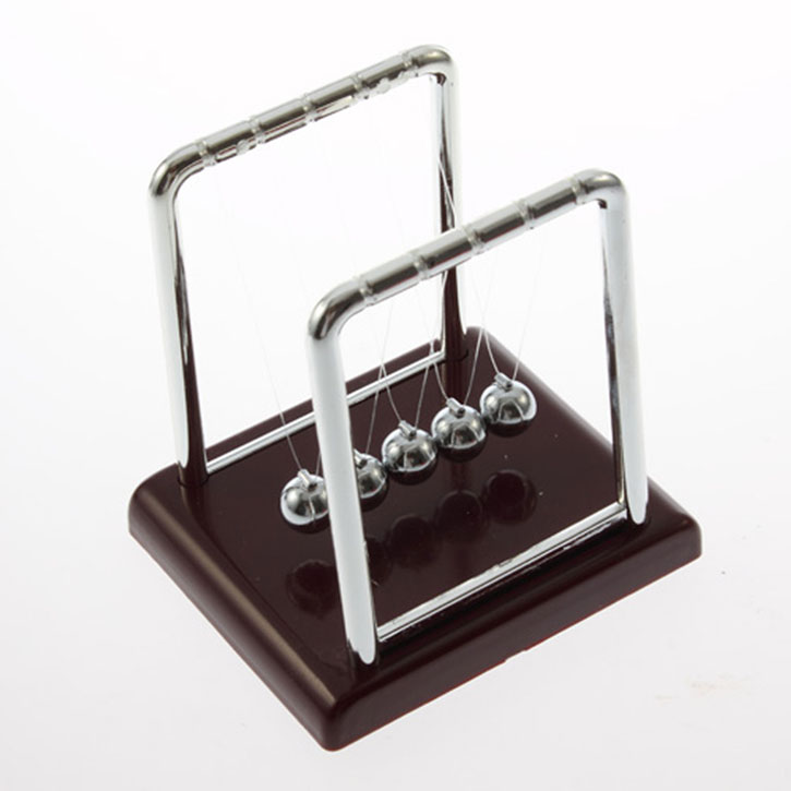 Newton's Cradle Fun Steel Half Balance Ball Chair Physics Science Desk Toy Accessory Gift