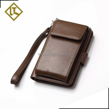 leather mens credit card cell phone rfid blocking man leather slim wallet phone case travel rfid men's leather wallet