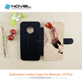 phone cases sublimation pu leather for Motorola G5 Plus