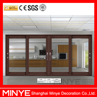 China factory design office sliding glass window and glass color changing window for sale