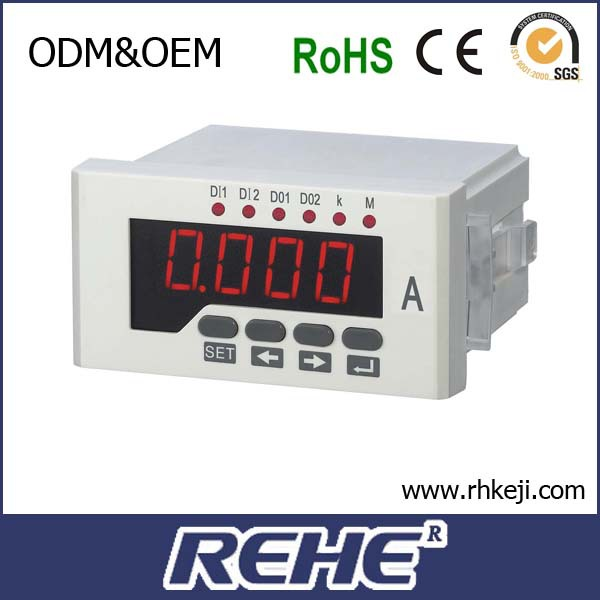 ammeter led current panel meter setable usb ampere meter