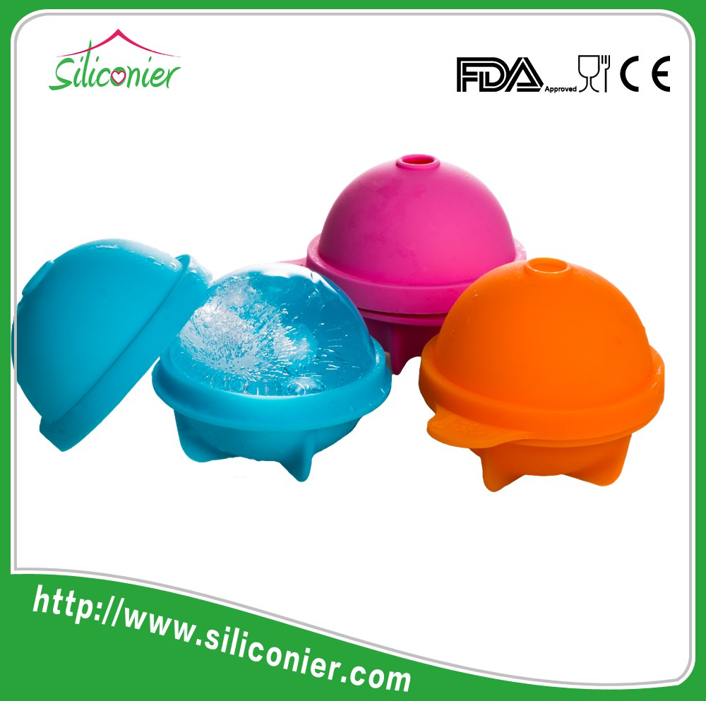 Colorful Custom round cube silicone ice ball mold