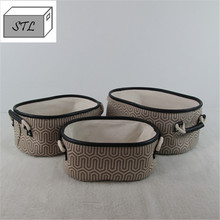 Hot sale cotton handles soft canvas storage basket