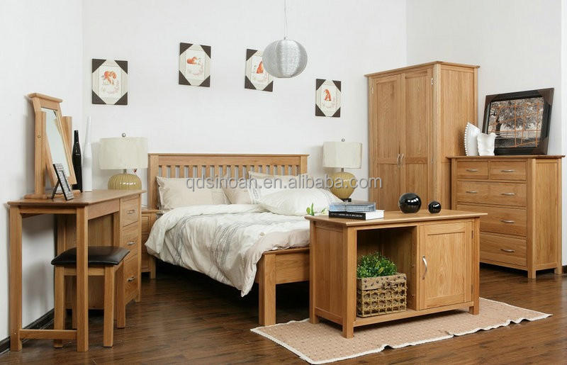 oak <strong>furniture</strong> natural Solid wood wooden bedroom <strong>furniture</strong>