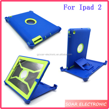 For Ipad 2 Kickstand Rotating Tablet Case Hybrid Hard PC Back Cover Case For Ipad 2