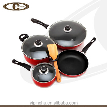 Stretch craft aluminum royal non stick cookware kitchen for Kitchen set aluminium royal
