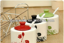 Colorful Kitchen ceramic canister set
