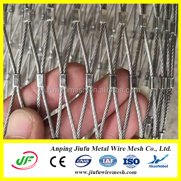 knotted type diamond shape stainless steel bird netting