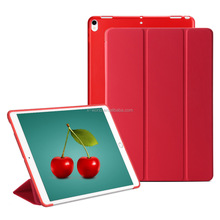 2017 Newest Ultra slim 3-folding Hybrid PC+TPU Protective case tablet leather stand case for iPad Pro 10.5''