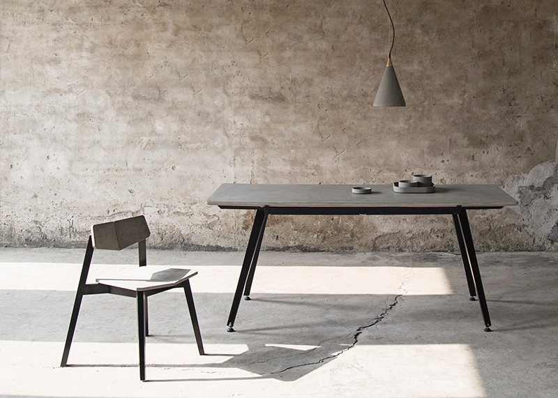 home furniture Concrete latest designs of dining tables