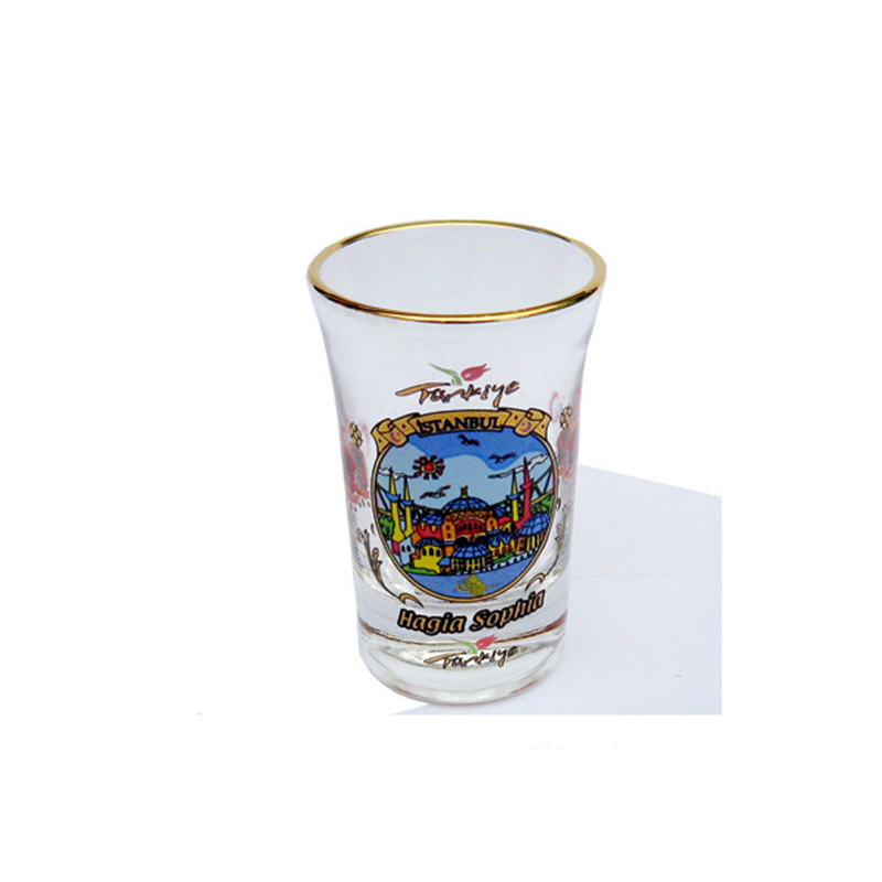Wholesale custom Istanbul shot glass souvenir for sale