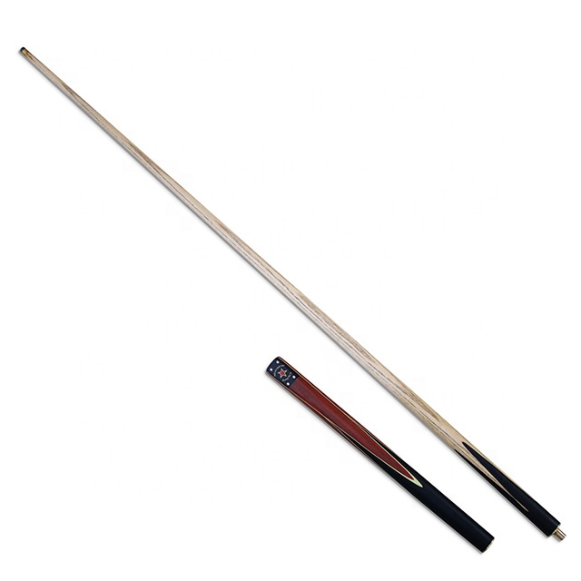 Affordable 3/4 Jointed Ash Wood Shaft + Handmade Billiard Snooker Cue