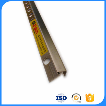 Triangle Stainless Steel stair nosing tile trim