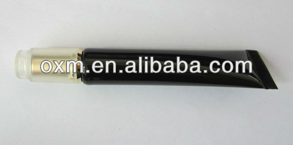 d19mm black tube with gold cap,black glossy tube
