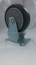 China factory direct sale high quality 3 4 5 inch casters grey PVC wheel fixed truckle made in China