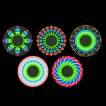 LED Light Plastic Fidget Spinners Tri-spinner Hand Spinner Toy With Factory Price