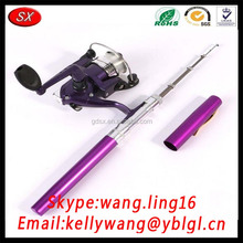 CNC Machining Aluminum Anodized Different Colors Mini Pen Fishing Rod Parts