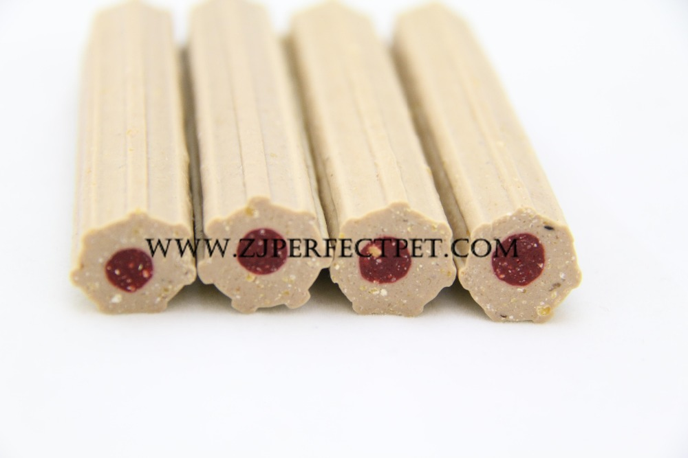 dog food heptagon two tone dental stick