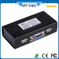 MT-VIKI Auto VGA Interface 2 Port USB KVM Switch With Audio