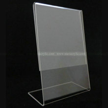 8.5 x 11 Angled Acrylic Sign holder Frames, Slant Back Styrene Sign Holder, Slanted PETG Sign Holder