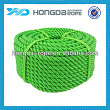 green 10mm 3 strand twisted pp rope