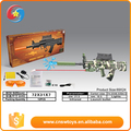 Friendly material plastic kids love gift soldier BO gun toy set