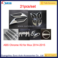 Factory Price ABS Chrome Full Kit For Mux 2014 New Chrome Complete Full Set Mux 2014 BestSelling Car Accessories