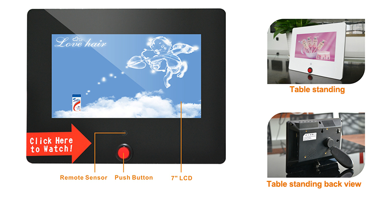 "7-10"" instore shelf advertising lcd video display with usb/sd card working for retail display"