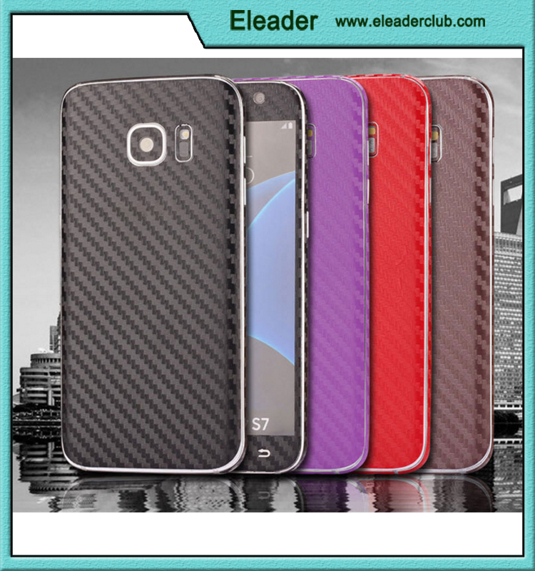 carbon fiber sticker cover case for samsung galaxy s7 edge