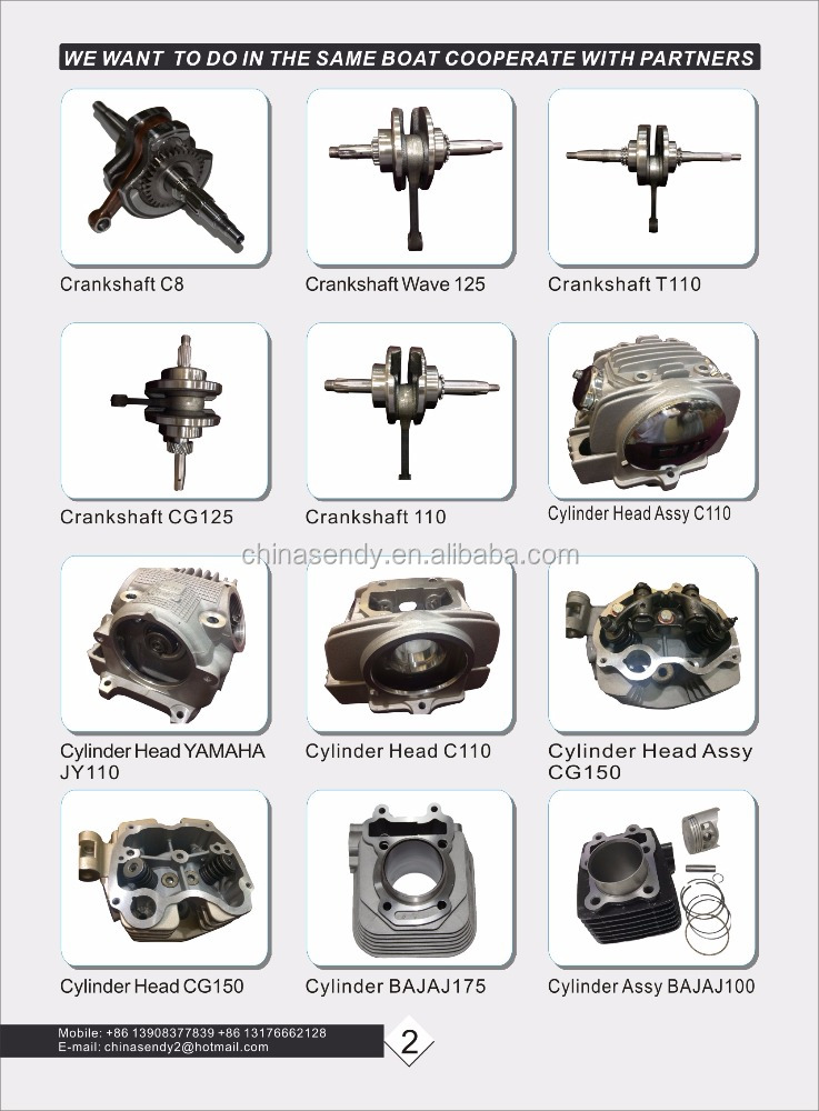 Wholesale Motorcycle Spare Parts for Thailand