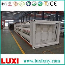 Aluminum 40ft Container Trailer Oxygen Gas Cylinder CNG Semi Trailer , Tube Cascade Skid Container