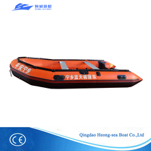 Light 4.2 meter inflatable boat heavy duty rescue boat high speed sail boat