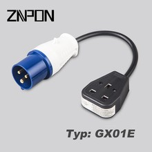 GX01E PLUG TO SOCKET 230 - 240 VOLT generator fly lead