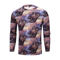 Mens Clothing Print Polyester T Shirt