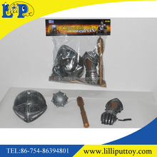 Playing suit pretend toy plastic knight weapon suit toy