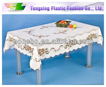 popular flannel back plastic tablecloths