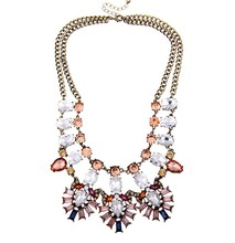 2015 latest design factory direct sell accesories jewelry high quality crystal necklace duplicate jewelry