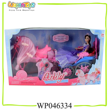 high quality kids playing doll set with horse for sale solid beauty fashion dolls play set